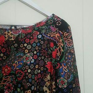 Floral Bell Sleeved Dress